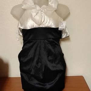 B. Smart Black and Cream Dress size 3/4